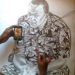 #Kenya got talent! Pencil drawing of @UKenyatta done by 24 year old ex-#JKUAT student from #Kisumu city http://t.co/Y5Vl14XnLr