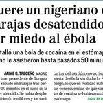 RT @revistamongolia: Si hubiese sido un cura con ébola, vale, pero esto solo era un puto negro sospechoso de tenerlo. #quesemueraya http://t.co/5lJql4u5jH