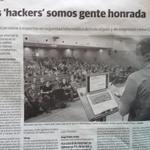 """RT @ConectaCon: @povedaje """"@roman_soft: """"Los hackers somos gente honrada"""" @ConectaCon en el periódico: #conecta2k14 http://t.co/ig7mWOKxev"""""""