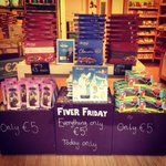 RT @AmyShelton1607: @talktojoe1850 #fiverfriday in Thorntons Limerick. Lots of yummy treats. http://t.co/uxhbYLRSa8