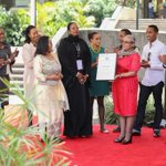 RT @FirstLadyKenya: H.E. Margaret Kenyatta receives the United Nations Person of the Year 2014 Award for her efforts in #BeyondZero. http://t.co/zSZRRaAqp6