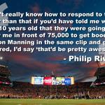 -- #PeytonManning calls out #scoreboardoperator after @Broncos game. #PhilipRivers nicely worded response- https://t.co/vxUjDVtdeA
