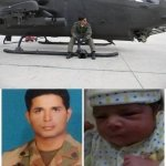 RT @siasatpk: Daughter of Maj Yasir Shaheed (Born recently) who was Martyred 4 months ago. May Allah Bless Her. http://t.co/cwwDVyDFwc