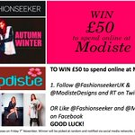 Its #COMPETITION TIME again! Follow @FashionSeekerUK & @ModisteDesigns to #WIN £50 to spend online! *LUCKY* http://t.co/voHHMnMrpA