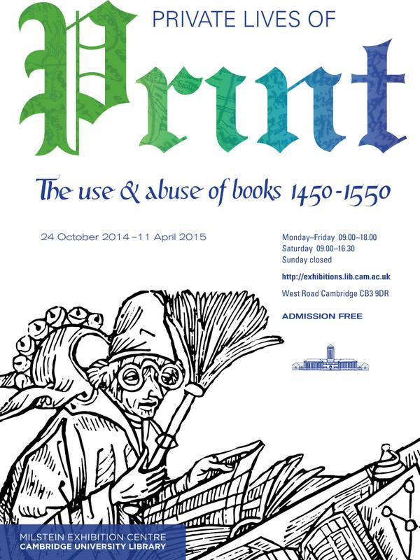 """Our new exhibition """"Private Lives of Print: The use and abuse of books 1450-1550"""" is open from today. http://t.co/A199zgjlHP"""