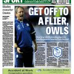 Todays @SheffieldStar back page. Stuart Gray wants Owls to make a flying start against the Canaries. #SWFC http://t.co/C3PzCNO6H3