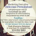 #LokerSMG RT @DiahKharismaSMG: Diah Kharisma Dekorasi membuka kesempatan kpda anda utk bergabung #Semarang http://t.co/9dinVQR9sk