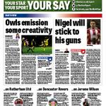 Check out @YICETOR and Matthew Bell columns in todays @SheffieldStar. #SWFC #SUFC #twitterblades http://t.co/aD01cHHzJb