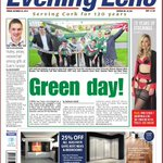 Green Day for @CorkCityFC and crowds pay final farewell to Evan. http://t.co/yT8O8pP6qq