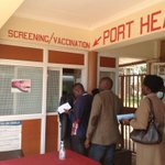 #Kenya #Namanga border visitors from Tanzania waiting to be screened #Ebola and yellow fever http://t.co/hZST0Of9n4