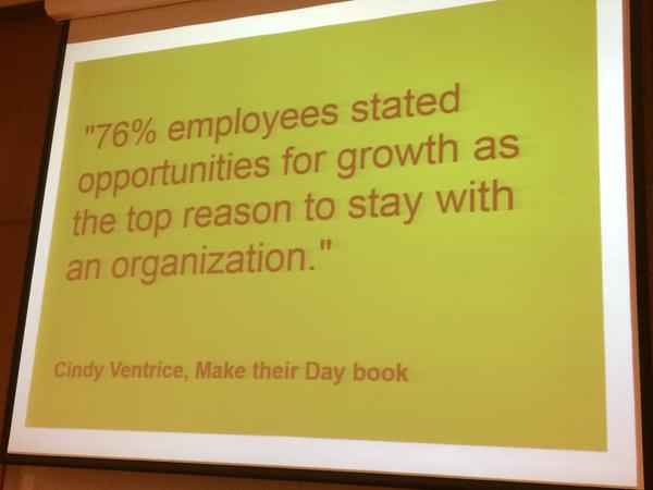 #HRTechEurope Opportunities for personal growth come from developing skills not purely promotion http://t.co/PWETMupf22