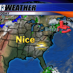 TGIF! This morning is chilly in the 30s/40s. Today and our weather will be nice... full details on GMV - join us! http://t.co/pLNK2BC2Ej