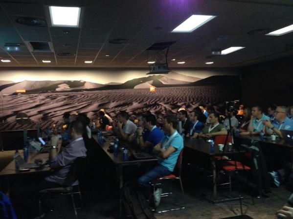 Big crowd at #E2EVC kickoff in Barcelona today http://t.co/IeXf2RzHzC