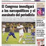 ¡Buen día! Aquí la #TapaUH del viernes: El Congreso investigará a los narcopolíticos y el asesinato del periodista. http://t.co/HzMGp987fj