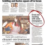 RT @pittjp: Not a pleasant front page for Ernst in the @qctimes this AM. http://t.co/zXQqC6lH4K #iasen http://t.co/nY2YgPKZFw