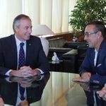 Compromís amb José Hidalgo, president de @TRIATLONSP, per campionat dEspanya de llarga distància 2015 a Eivissa http://t.co/BzYs6ApmPK