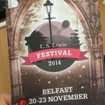 RT @love_belfast: Gathering at Belmont Tower east Belfast for launch of @CSLewisFest 2014. http://t.co/xIg4Snx7OQ
