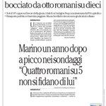 RT @LCiocchetti: Il #Sondaggio di @repubblicait boccia loperato di #Marino Condividete e dite la vostra #Roma http://t.co/BJvg1YicN7