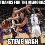 RT @NBAMemes: Steve Nash: You Will Be Missed! #Lakers #Suns http://t.co/Kl3YkSNPMg