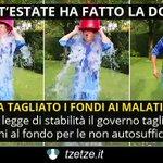 Ricordate le docce gelate..anche Renzi lo fece ..tutto una farsa.. tagliati i fondi ai malati di SLA..(che ipocrisia) http://t.co/o1RxORg4Wa