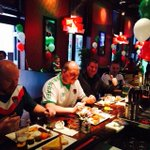The lads enjoying their breakfast thanks to @sohobarcork #greenfriday http://t.co/eAgCiH5xjo