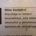 Sanajärjestyksellä on sittenkin joskus väliä suomen kielessä. http://t.co/NgFbYT8nIo