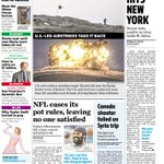 RT @USATODAY: On todays #frontpage: #NYC sees first #Ebola case. Canadian shooter wanted to go to #Syria. #NFL eases pot rules. http://t.co/9ncG3IeS0M