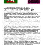 RT @SNJCO: @SNJ_national Les raisons de la grève ce vendredi 24 octobre à la rédaction de Centre Presse Aveyron, ici : http://t.co/y7qeCURguF