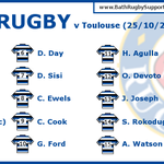 HUGE game for @DomDay5, @DavidSisi and @charlieewels as @BathRugbys back row to face Toulouse. Good luck, guys! http://t.co/ebMUWKfhA1