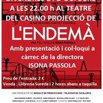 RT @lendema_lapeli: Avui a les 22h projecció de #lendema a #Llagostera i col·loqui amb @isonapassola http://t.co/ti7Am1CZj7