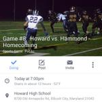 7pm. Our Place. Homecoming! Be loud! #StormsComing #FlagsUp @hcpss_hohs @HowardFans2015 @HoHSstudents @HoHSLionsPride http://t.co/M9v5G7nkUS