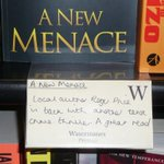 RT @RAPriceAuthor: Called in @WstonesPreston to sign stock of A New Menace was thrilled to see they have recommended it http://t.co/2WmAh8cKyC @blogpreston