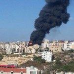 RT @LBCI_NEWS: صورة للحريق الكبير الذي اندلع في حي مار جرجس في جبيل قرب محطة تابت خلال تفريغ أحد الصهاريج البنزين http://t.co/KFRvtMD1da