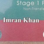 Imran Khans Stage Pass 4 Gujrat Jalsa. Even Imran Khan has to show his pass to get on the stage. #PTIForGujrat http://t.co/GJS0vkmStu""