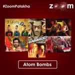 Which is your favorite Atom Bomb (Fav Bollywood Movie). Tweet using  #ZoomPatakha in your tweets