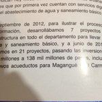 RT @JCGossain: Un párrafo que explica el proceso de transformación en la cobertura de agua en Bolívar. http://t.co/epD7Pqc5jF