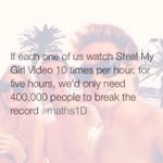 RT @MyArmyOfStyles: WE HAVE TO BREAK THE VEVO RECORD RT AND SPREAD #StealMyGirlVideo #StealMyGirlVEVORecord #EMABiggestFans1D http://t.co/fA6lhDlT35