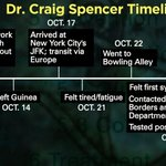 RT @drsanjaygupta: Here is a good time line for Dr Craig Spencer. #Ebola #ebol http://t.co/E5Sks6ylWb