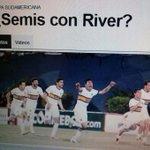 Primero error, la prensa Argentina ya palpita que en Semifinales de la Sudaméricana será Boca Jr vs River Plate. http://t.co/w3a2fUacXY