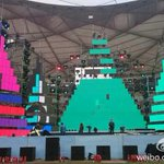 RT @ibaekrauhls: 141024 The venue & stage set-up for tomorrows MBC Korean Music Wave in Beijing. EXO will perform. (cr.bjstardance) http://t.co/thhH0gh3BF