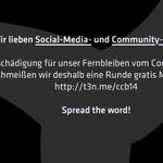 RT @t3n: We <3 #SocialMedia & #CommunityManager! Hier eine Kleinigkeit für alle #ccb14 Besucher. http://t.co/uV1HBKBFp0 Pls RT http://t.co/pcRg8JpfOi