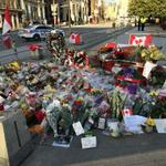RT @570News: One of two memorials near the National War Memorial in Ottawa. Photo from .@1310Kristy #OttawaStrong http://t.co/8rppPa51hz
