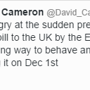 "David Cameron ""appalled"" at EU, refuses to pay €2.1bn top-up. http://t.co/bVydhyg50V http://t.co/Pmtk28lJez"