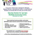 RT @SanguenHepC: Look for Sanguen at this Saturdays Newcomer Health Fair in #Guelph! http://t.co/LEvDweUNk4