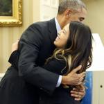 RT @washingtonpost: Obama hugs Nina Pham, nurse who is now Ebola-free http://t.co/LtJ2czH7Gp http://t.co/yaqij3xpl6