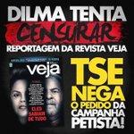RT @lamers_r:Traidora da nação, Dilma tentou censurar a veiculação da VEJA,o TSE NEGOU! #VotoAecioPeloBR45IL #ForaPT http://t.co/RiXPvma49v