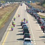 RT @JamesMoore_org: Cpl. Nathan Cirillo on the highway named for him. Heading home. Rest well. http://t.co/IQNaLMA6CB