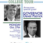 BREAKING NEWS: @joekennedy will be joined by @DevalPatrick on the Monday stops of our college tour! #mapoli #joinjoe http://t.co/UiDiLkKxdY