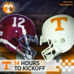 RT @Vol_Football: 14 Hours To Kickoff: As is happening in 2014, #Vols & #Bama are playing on 4th Saturday in October for the 14th time http://t.co/OlfymEDmfM