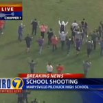 #BREAKING: School #shooting just north of Seattle. LIVE COVERAGE: http://t.co/aPL8qzx6ss #WatchKHQ #Marysville http://t.co/pjJliRcBa6